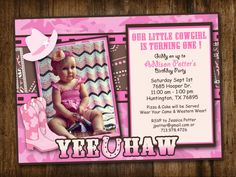 Camouflage Cowgirl Invitation by DearLylah on Etsy, $12.00
