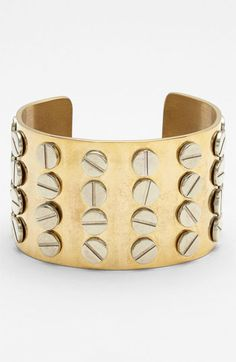 Industrial edge: Screw Detail Cuff #jewellery