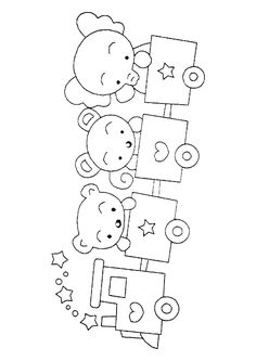 Teddy bears - 999 Coloring Pages Spring Coloring Pages, Christmas Coloring Pages, Coloring Book Pages, Drawing Lessons For Kids, Art Drawings For Kids, Cute Drawings, Baby Embroidery, Embroidery Designs, Teddy Bear Coloring Pages