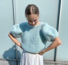 Summer Knitting, Fair Isle Knitting, Baby Knitting, Crochet Eyes, Crochet Motif, Knit Crochet, Knitting Patterns Free, Knit Patterns, Crochet Top Outfit