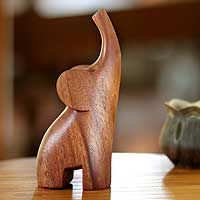 From Made Wirata, this sleek sculpture distills the essence of the elephant in a modern #sculpture.