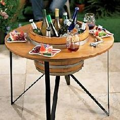 Outdoor Beverage Chiller Table