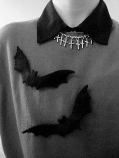 .not sure about the crosses ... could def make and sew bats onto a particular sweater i have