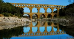 Most beautiful bridges in Europe Nimes France, Pont Du Gard, Roman Architecture, New Details, Ancient Rome, Amazing Destinations, World Heritage Sites, Travel, Elder Scrolls