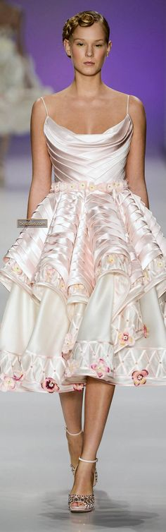 Samuel Cirnansck Sao Paulo Spring Summer 2014- this would be such a cute wedding dress if I were into a short one.