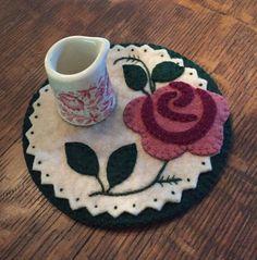 Rose Candle Mat
