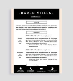 Sample Two Page Resume Resume #template And Cover Letter For Word And Pages  Two Pages .