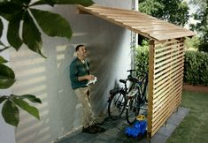 Amazing Shed Plans - Garage à vélos – Bikeport Now You Can Build ANY Shed In A Weekend Even If You've Zero Woodworking Experience! Start building amazing sheds the easier way with a collection of shed plans! Garage Velo, Bicycle Garage, Bike Shed, Diy Garage, Bicycle Wheel, Bicycle Girl, Wagon Wheel, Garage House, Pool Storage