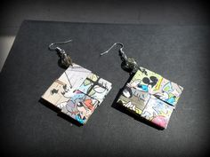 Paper earrings - diy