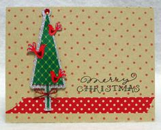 My Little Slice of Bliss: DeNami Christmas card using washi tape