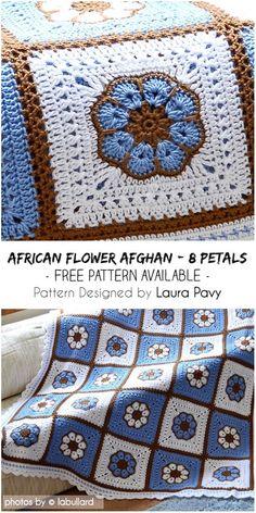 Crochet Squares Afghan, Granny Square Crochet Pattern, Afghan Crochet Patterns, Crochet Granny, Baby Blanket Crochet, Crochet Motif, Crochet Geek, Free Crochet Square, Crochet Edgings