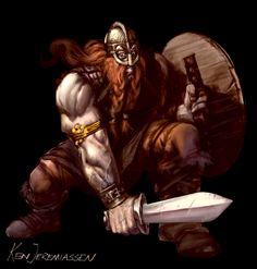 Viking Berserker by KenJeremiassen.deviantart.com on @deviantART