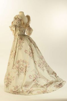 Worth evening dress ca. 1890 From the Liberty Hall Museum via History Pin