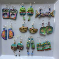 Polymer clay earrings @ Yellow Green Farmer's Market booth 209.
