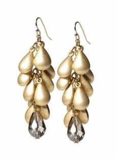 Tear Drop Cluster Earring  by Tinley Road