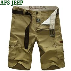 AFS JEEP HOT 2017 Summer Men Leisure Famous Brand Casual  Short Male Quick-drying Mens Shorts Cotton Clothing large size 65