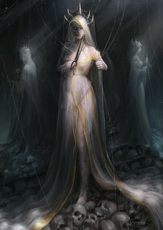 The Moirai - as goddesses of death, they appeared together with the Keres and the infernal Erinyes