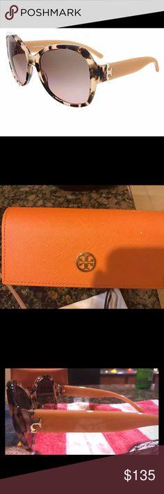 Authentic Tory Burch Sunglasses. Tortoise brown round sunglasses. Light pink frames. NWOT comes with TB sleeve and case. Tory Burch Accessories Sunglasses