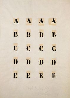 Piero Manzoni, Alfabeto 59-60