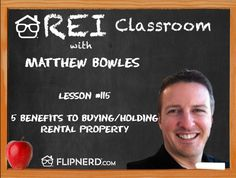 Matt Bowles lists and explains 5 benefits of buying and holding property, including cash flow and leverage.