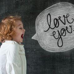 Valentine Chalk Message......