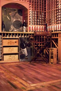 Contemporary Wine Cellar Floor Tile Design, Pictures, Remodel, Decor and Ideas - page 13 Wine Cellar Racks, Wine Rack, Wine Cellars, Wine Cellar Design, Wine Cabinets, Wine Storage, Tile Design, Home Projects, Home Remodeling