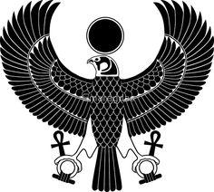 Egyptian God Horus as Royal Falcon by Smaragdas
