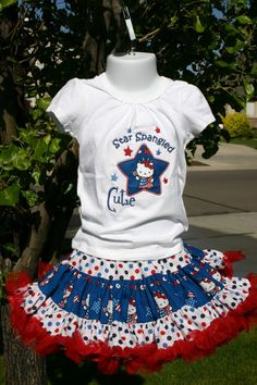 Girls Patriotic Independence Day 4th of July outfit  by ArisAngels, $70.00