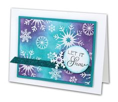 Let It Snow Card - click through for project instructions.