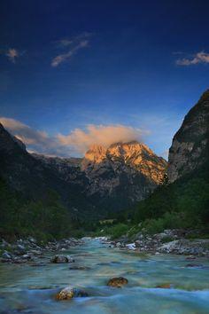 The river Soča (Slovenija)