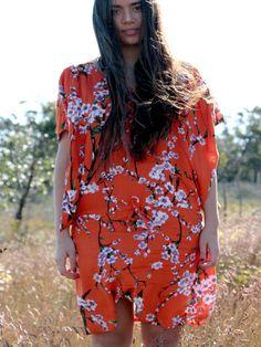 DRESS KUPU JAPAN ORANGE (Stitch'd)
