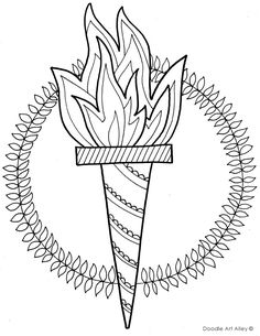 Olympic Torch Coloring Page. #2016Olympics