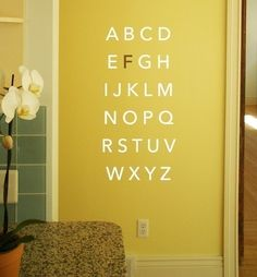 Large block alphabet stickers