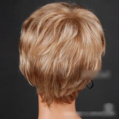 Sogood New Style Popular Golden Short Curly Women Wigs Hair replacement