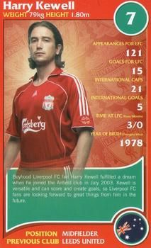 2007 Top Trumps Specials Liverpool #NNO Harry Kewell Front