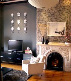 Love roaring fires? Here are some pictures of fireplaces to give you some inspiration when decorating your home...