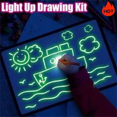 Draw With Light Kids' Learning Tablet Magic Drawing Board – DailySale, Inc Dark Drawings, Amazing Drawings, Family Drawing, Drawing For Kids, Children Drawing, Kids Christmas, Christmas Presents, Christmas Games, Magic Drawing Board