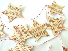 Vintage Inspired Christmas Star Garland/Banner  2 by matdi123