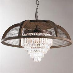 Rustic Elegance Chandelier- 3 Light