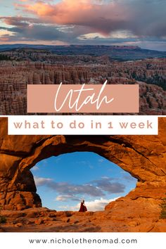 Are Utah's national parks on your bucket list? This is your guide to the ultimate road trip itinerary to visit all of Utah's national parks in 1 week! It has your must-see sights and tips for planning your 7-day trip through Arches, Canyonlands, Capitol Reef, Bryce Canyon, and Zion National Parks. | utah road trip | southwest road trip | utah's might 5 | national park road trip| united states road trip | moab road trip | united states national parks | US national parks Capitol Reef National Park, Us National Parks, Usa Travel Guide, Travel Usa, Travel Guides, Travel Tips, Visit Utah, Canyonlands National Park, Road Trip With Kids