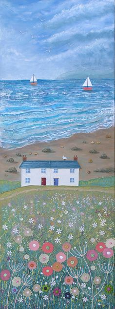 'You should see the wonderful views from my house', she said. Painted by Josephine Grundy