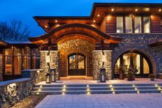 New home construction experts John Kraemer & Sons built this gorgeous Stillwater Lodge, a rustic style home with modern flair. Custom Home Plans, Custom Homes, Rustic Loft, Rustic Style, Home Styles Exterior, H & M Home, Lodge Style, New Home Construction, Build Your Dream Home