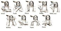 A sign language which is also known as signed language is a language which uses manual communication, body language and lip movements instead of sound to express meaning. The sign language is the one simultaneously combining hand move Native American Cherokee, Native American Symbols, Native American Crafts, Native American History, American Indians, Cherokee Indian Women, American Women, Indian Symbols, Mayan Symbols