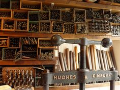 Finishing tools and press at Canterbury Bookbinders, Canterbury, Kent by Paul Anthony Moore, via Flickr