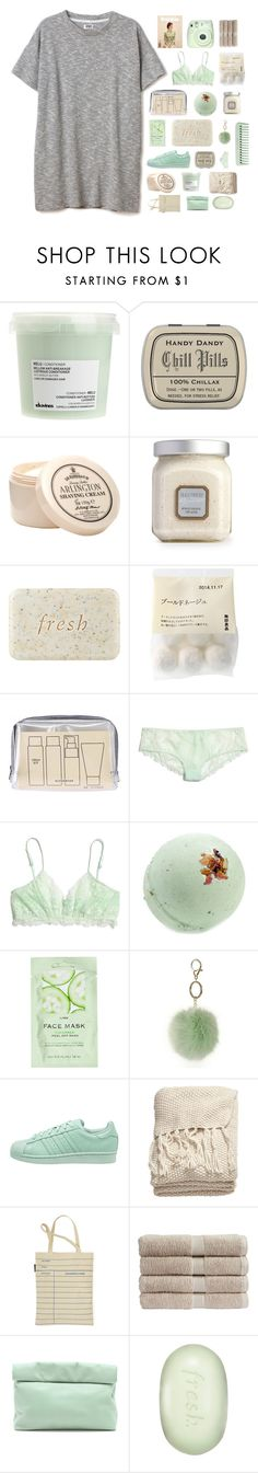 """""""I can't stop thinking about u"""" by sara-koivula ❤ liked on Polyvore featuring Davines, D.R. Harris & Co Ltd., Laura Mercier, Fresh, Muji, Madewell, H&M, Dorothy Perkins, adidas Originals and Out of Print"""