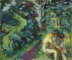 Consolation in the Forest 1924–25 / Oil on canvas / 100 x 120 cm Munch Museum
