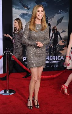 Emily VanCamp attend and her cute pics at 'Captain America The Winter Soldier' premiere in Hollywood Emily Vancamp, Winter Soldier, Actress Photos, Beautiful Celebrities, In Hollywood, Captain America, Cute Pictures, Peplum Dress, Most Beautiful