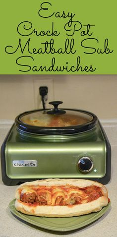 Easy Crock Pot Recipe | Meatball Sub Sandwiches | Easy Home Meals #HolidayHelper #sponsored