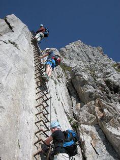 The Alpspitze Via Ferrata / klettersteig Garmisch: Alpine Arena