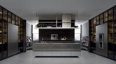 Artex kitchen by Varenna. Click on the pin for more kitchen inspiration. #modernkitchen #stainlesssteel